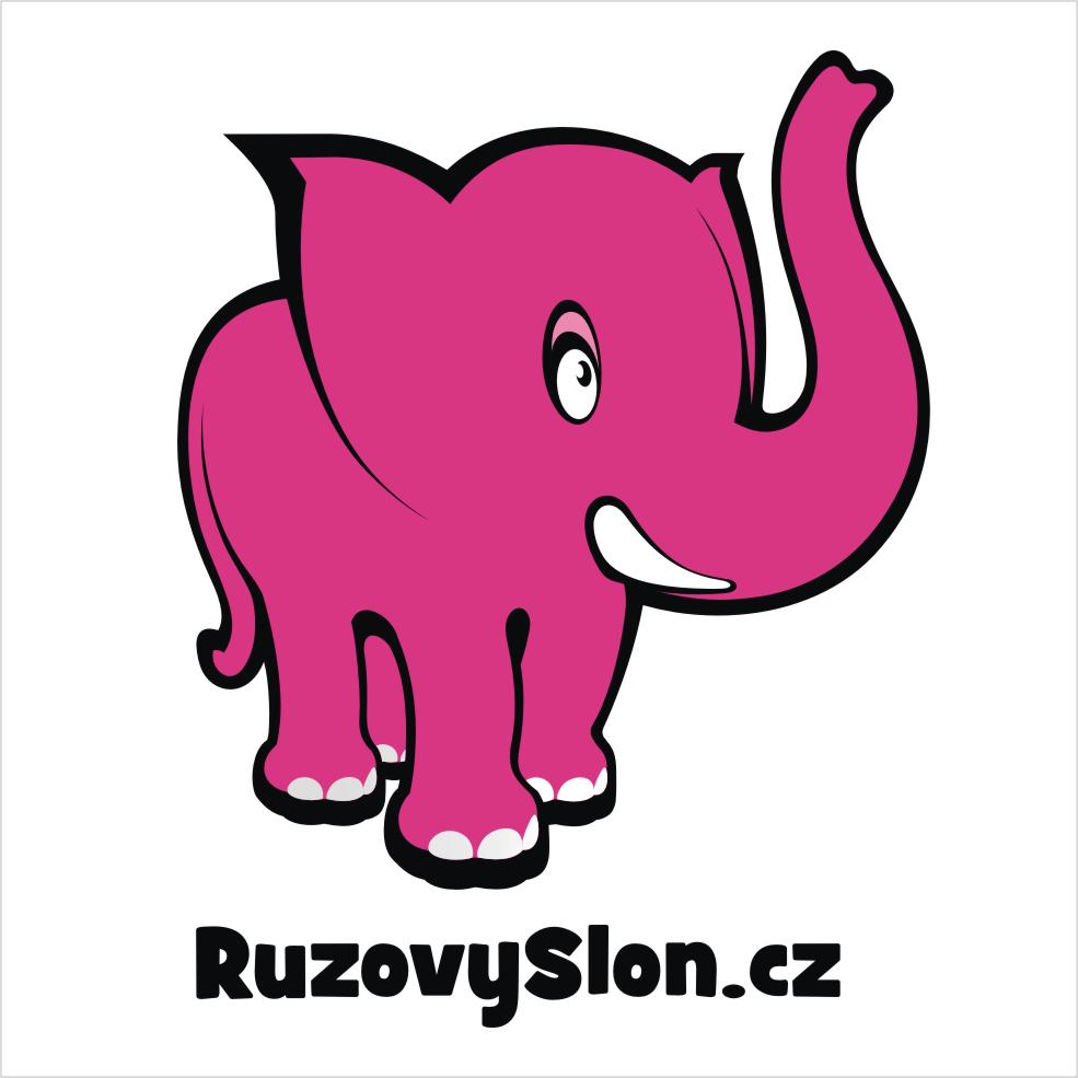 Růžový slon logo